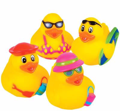Beach Scene Rubber Ducks - 12 count