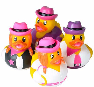 "2"" Cowgirl  Rubber Ducks - 12 count"