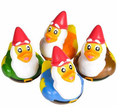 "2""  Gnome Rubber Ducks - 12 count"