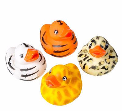"2"" Safari Rubber Ducks - 12 count"