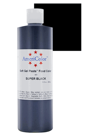 Americolor Gel- Super Black- 13.5 Oz.