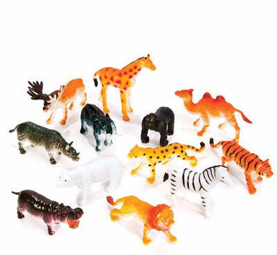 "2.5"" Zoo Animals Assortment - 12 count"