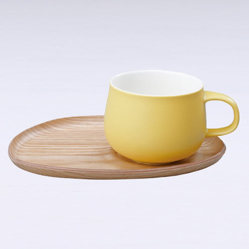 Fika Cafe Sweets Cup and Wooden Plate