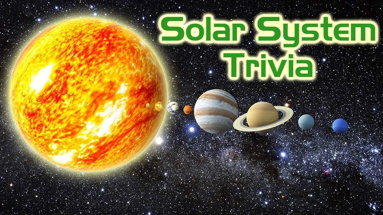 Free Trivia Night Questions - The Solar System