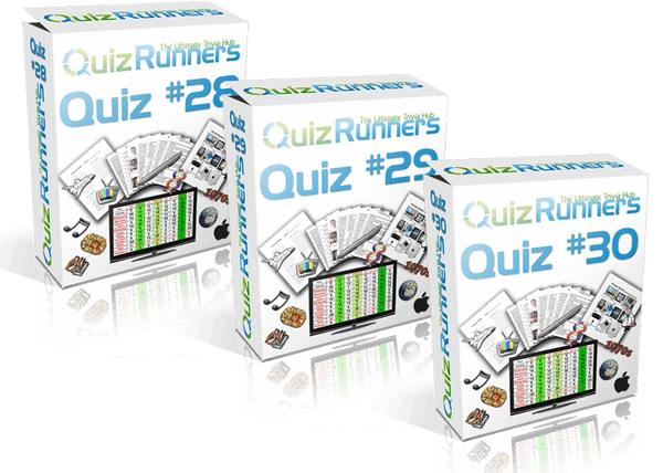 3-Pack Bundle Including Quiz #28, Quiz #29, and Quiz #30 - QuizRunners