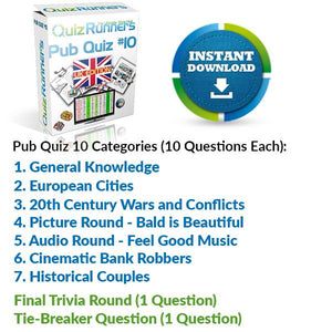 Pub Quiz Kit 10 UK Edition