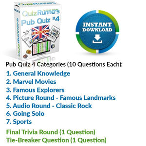 Pub Quiz Kit 4 UK Edition