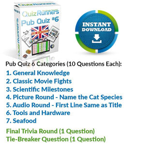 Pub Quiz Kit 6 UK Edition