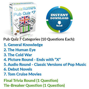Pub Quiz Kit 7 UK Edition