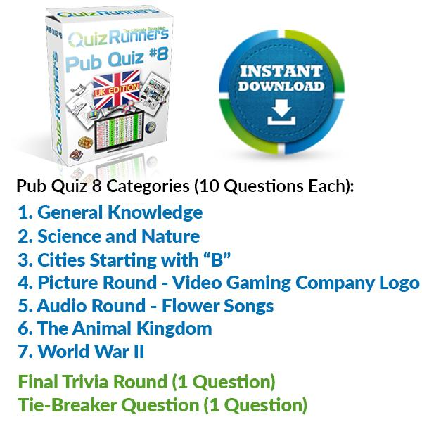 Pub Quiz Kit 8 UK Edition