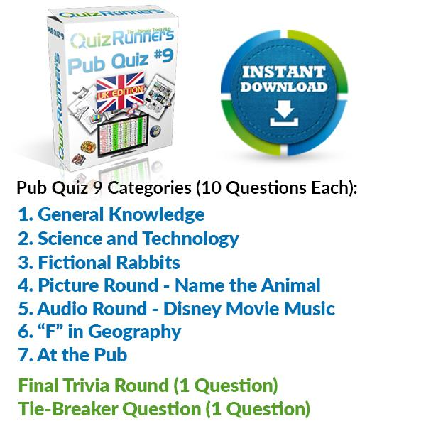 Pub Quiz Kit 9 UK Edition