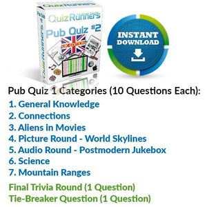 Pub Quiz Kit 2 UK Edition