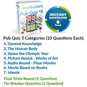 Pub Quiz Kit 3 UK Edition