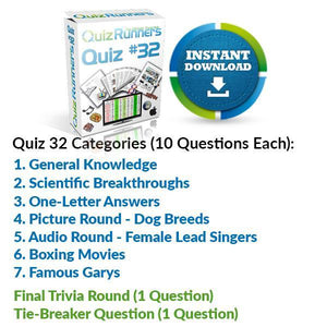 Quiz Night Kit 32