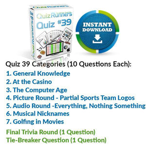 Quiz Night Kit 39