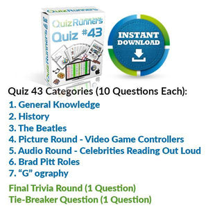 Quiz Night Kit 43
