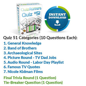 Quiz Night Kit 51