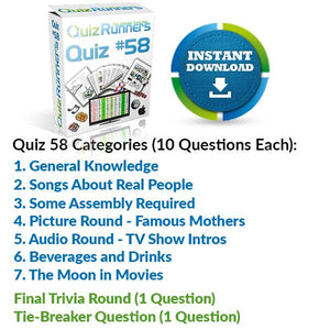 Quiz Night Kit 58
