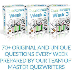 Weekly Quizzes Delivered into your inbox every Monday for your Quiz Night