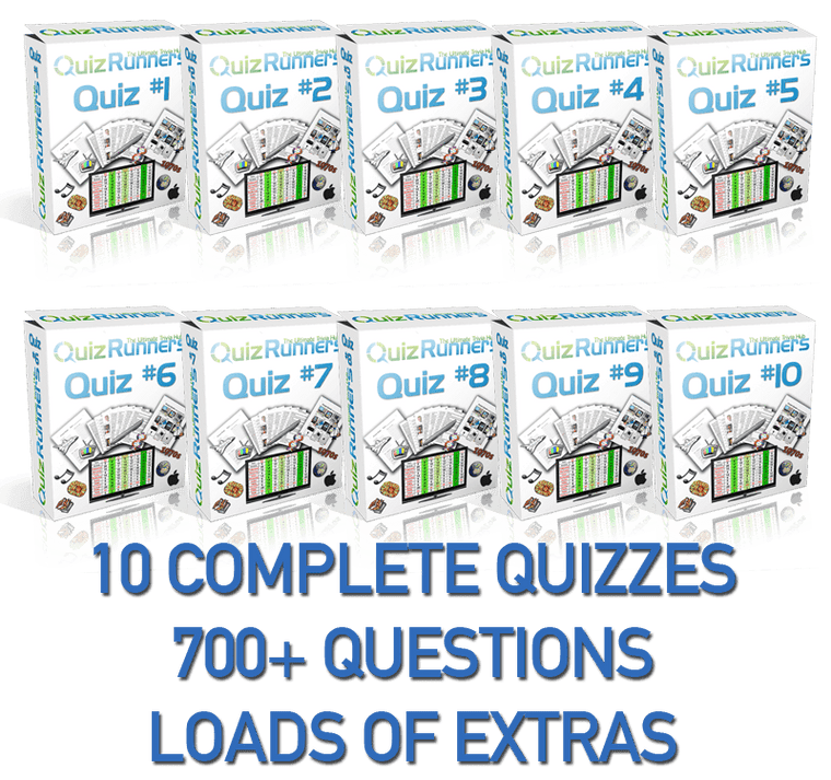 10 Complete Trivia Night Quizzes - Quiz 1 through 10