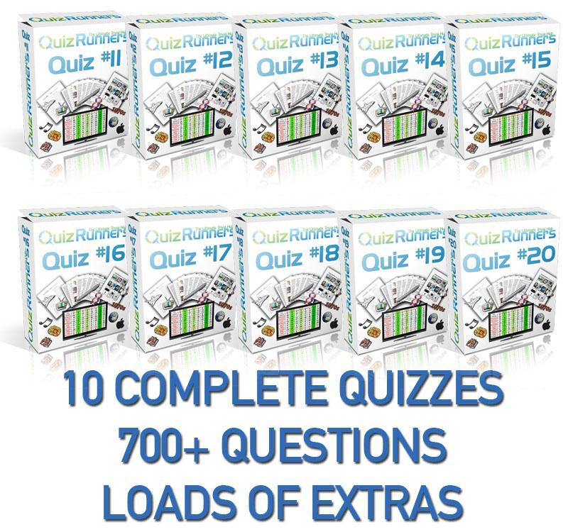10 Complete Trivia Night Quizzes - Quiz 11 through 20