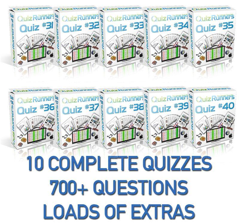10 Complete Trivia Night Quizzes - Quiz 31 through 40