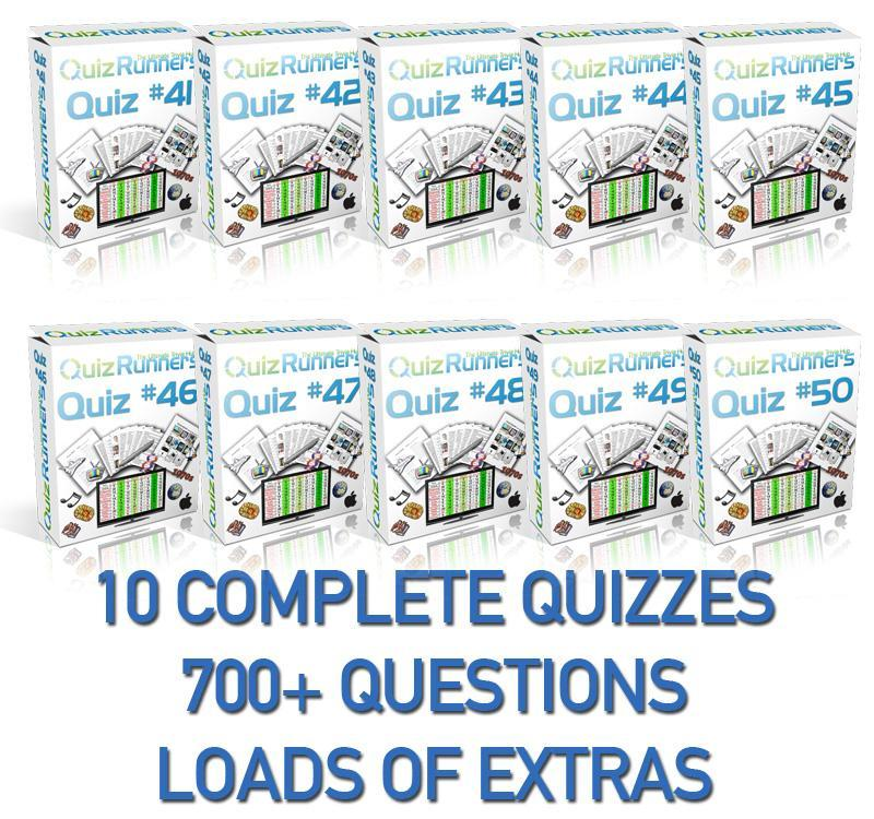 10 Complete Trivia Night Quizzes - Quiz 41 through 50