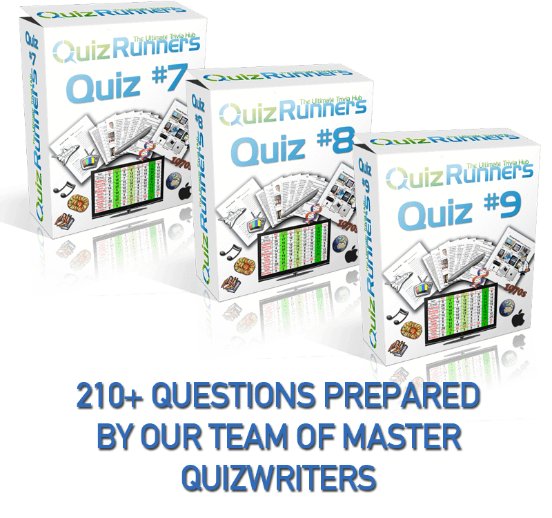 3 Complete Trivia Night Quizzes - Quiz 7, 8 and 9