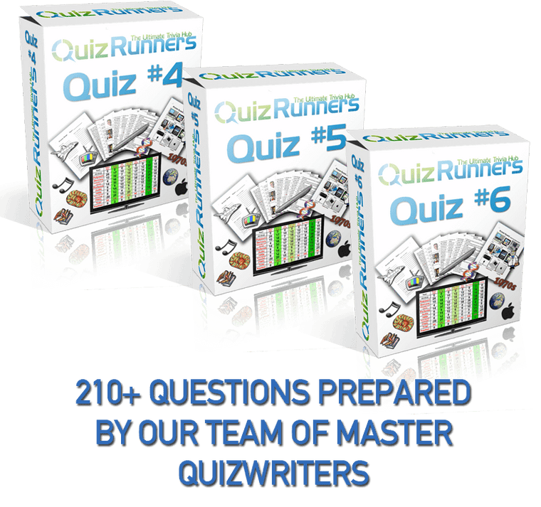 3 Complete Trivia Night Quizzes - Quiz 4, 5 and 6