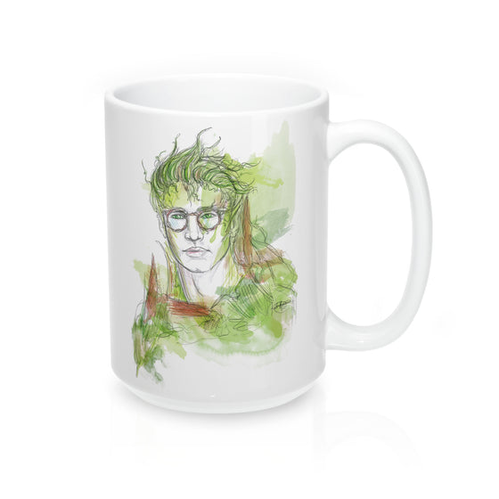 Bookish Dryad Mug 15oz - The Watercolorie