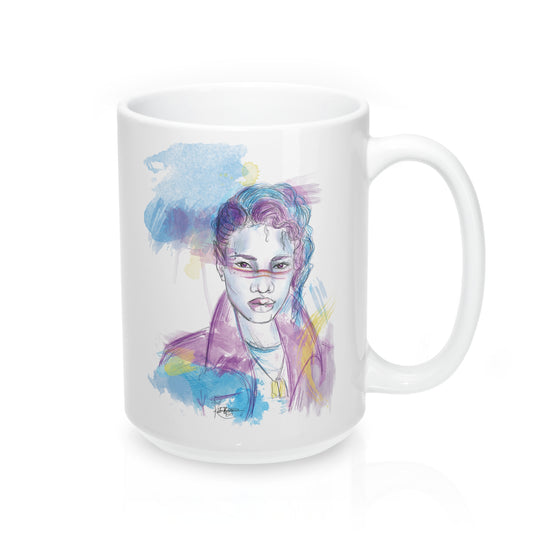 80s Pop Elf Mug 15oz - The Watercolorie