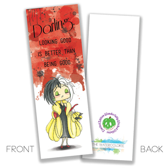 Cruella de Vil Bookmark - LIMITED EDITION - The Watercolorie