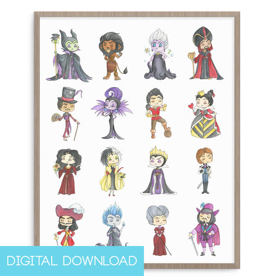 Disney Villains 8x10 Digital Download - LIMITED EDITION - The Watercolorie