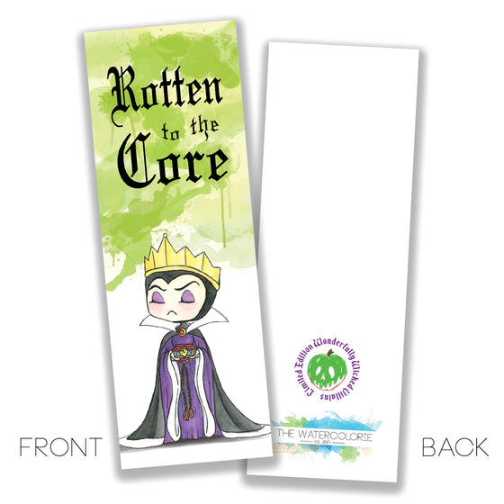 Evil Queen Bookmark - LIMITED EDITION - The Watercolorie