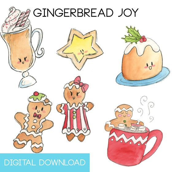 Gingerbread Joy Sticker Page Digital Download