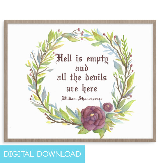 Hell is Empty 8x10 Digital Download