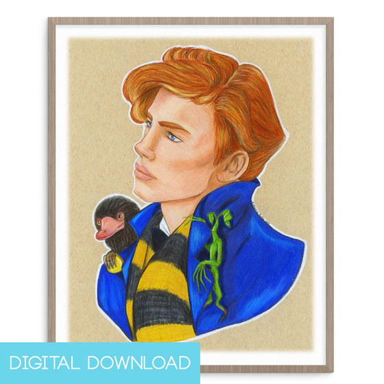 Fantastic Beast Finder 8x10 Digital Download - The Watercolorie