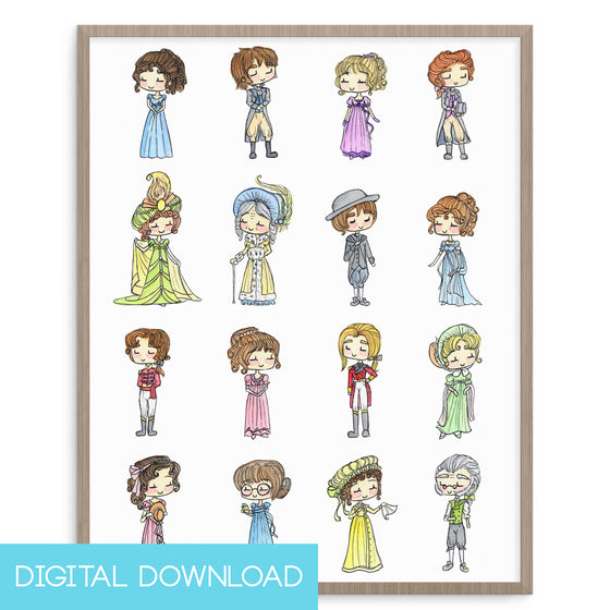 Pride and Prejudice 8x10 Digital Download