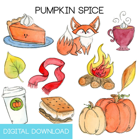 Pumpkin Spice Sticker Page Digital Download