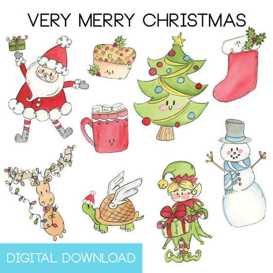 Very Merry Christmas Sticker Page Digital Download