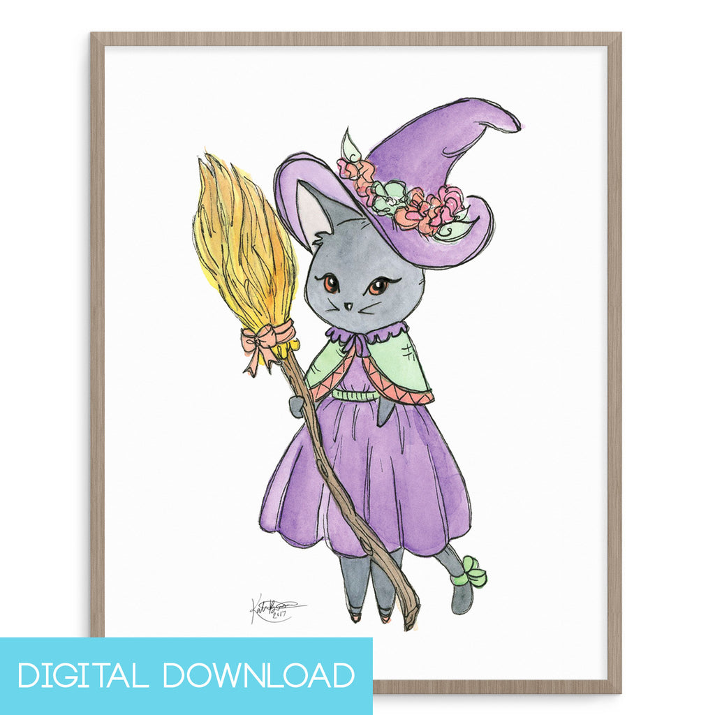 Witch Kitty 8x10 Digital Download