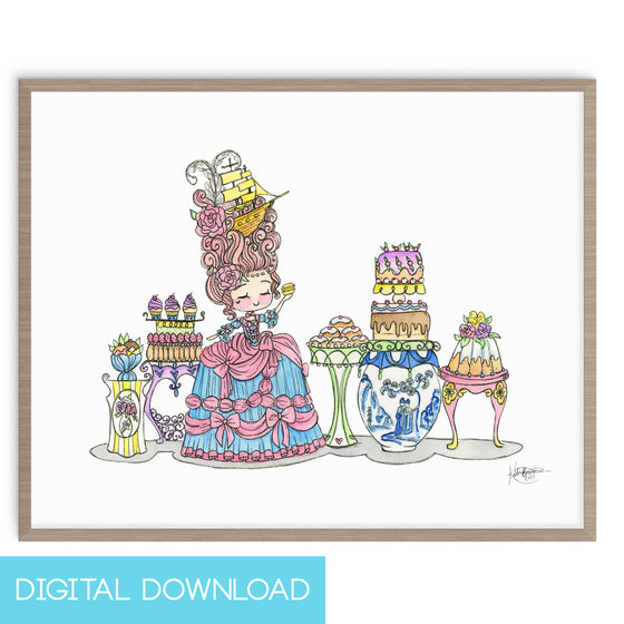 Copy of Let Them Eat Cake 8x10 Digital Download - The Watercolorie