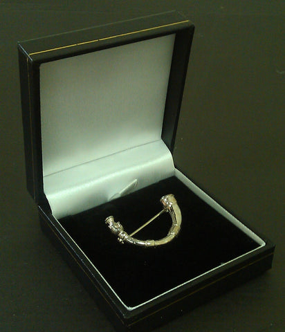 Silver Horn of Leys Brooch