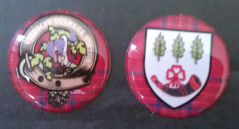Burnett Crest & Shield Stickers (20mm)