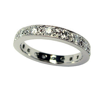 5 Bead Pavé Diamond Band