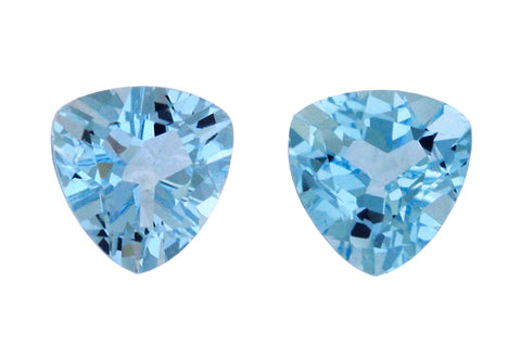 2.98 cttw Aquamarine Triangular Pair