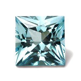 7 mm Princess Cut Aquamarine