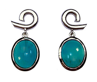 Chrysocolla Beginningless Circle Earrings
