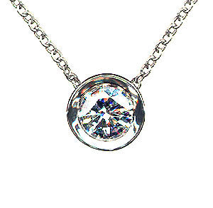 Diamond Bezel Slide Pendant
