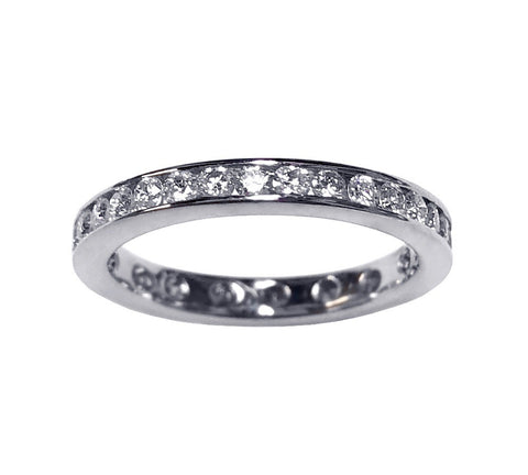 ++Sale++ Channel Set Diamond Band